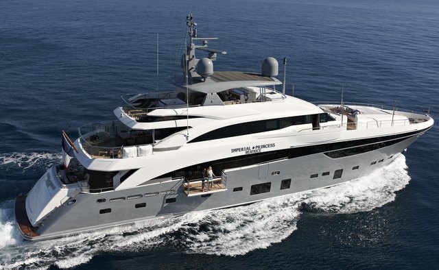 Imperial Princess Beatrice charter yacht exterior designed by Bannenberg & Rowell
