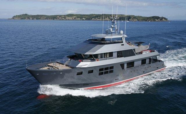 Akiko yacht charter Alloy Yachts Motor Yacht