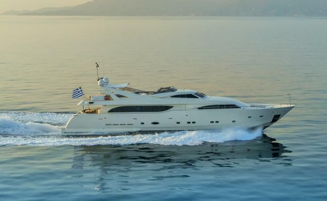 Champagne Seas yacht charter Custom Line Motor Yacht