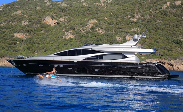 Black Pearl Ajaccio yacht charter Riva Motor Yacht