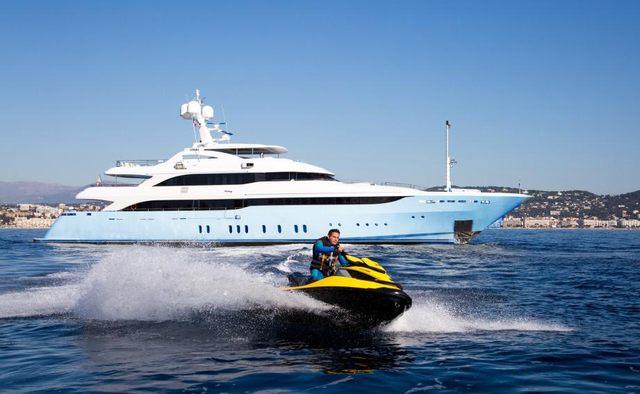 Vertigo charter yacht exterior designed by Studio Vafiadis