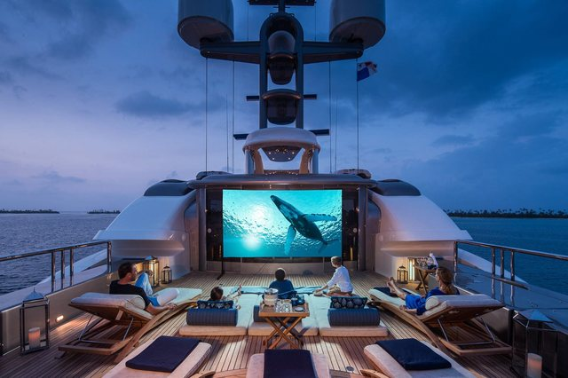 Outdoor cinema on Calypso