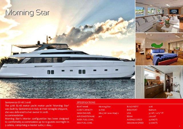 Download 'Morning Star' yacht brochure(PDF)