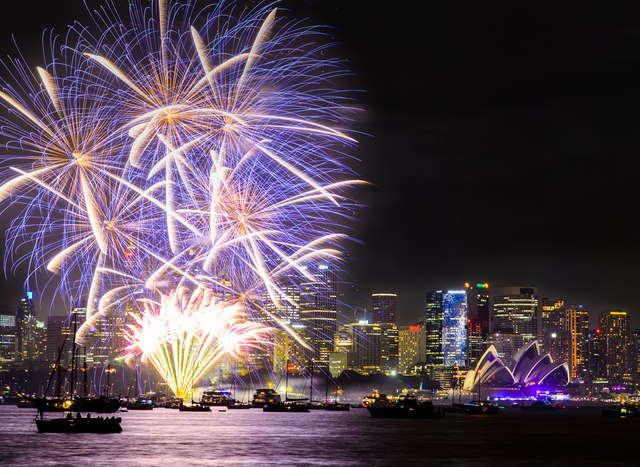Sydney fireworks for New Year's Eve