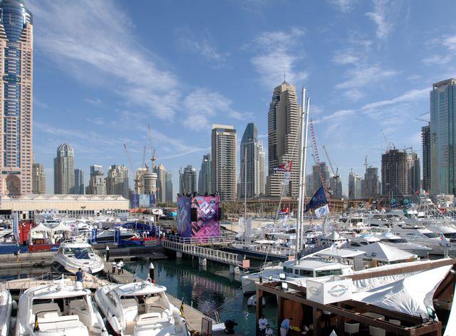 Yachts at the Dubai Boat Show