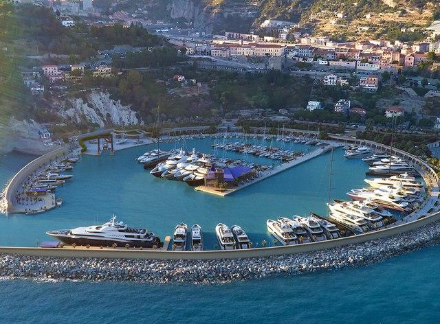 Near superyacht marina, Cala del Forte, near Monaco