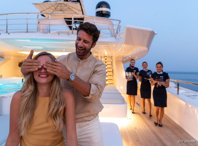 charter guests on luxury yacht opari
