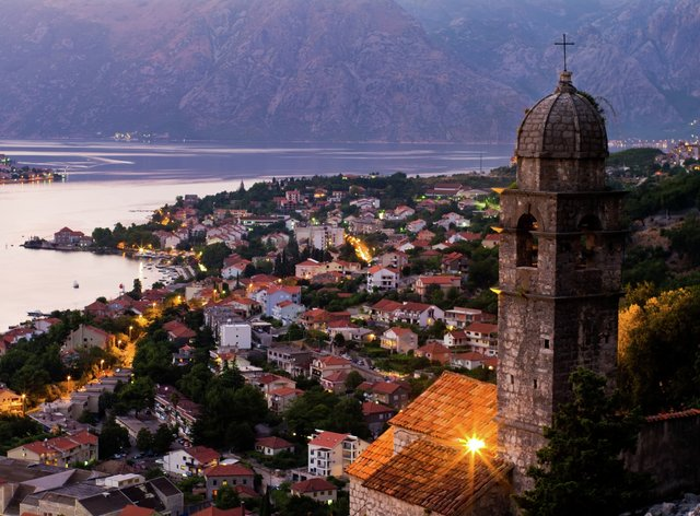 Montenegro at sunset