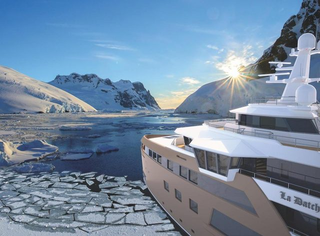 Groundbreaking expedition yacht 'La Datcha', currently in build, to charter in 2021