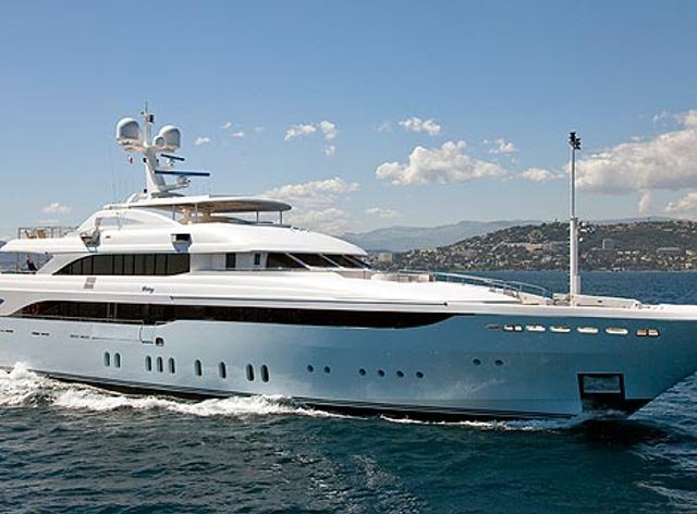 Charter yacht Victory in the Mediterranean