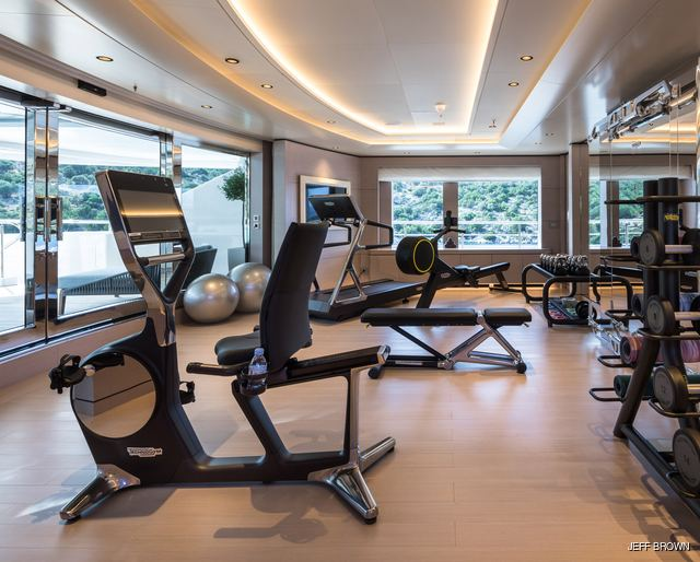 Charter Yachts with Incredible Onboard Gym