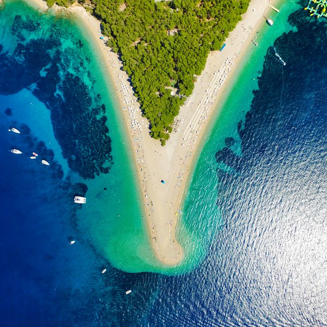 The famous beach of Brac