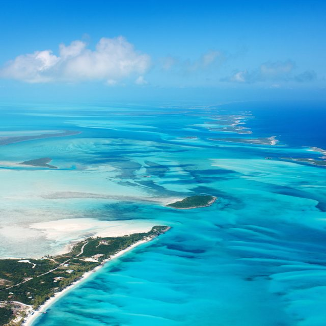 Fly privately into Staniel Cay