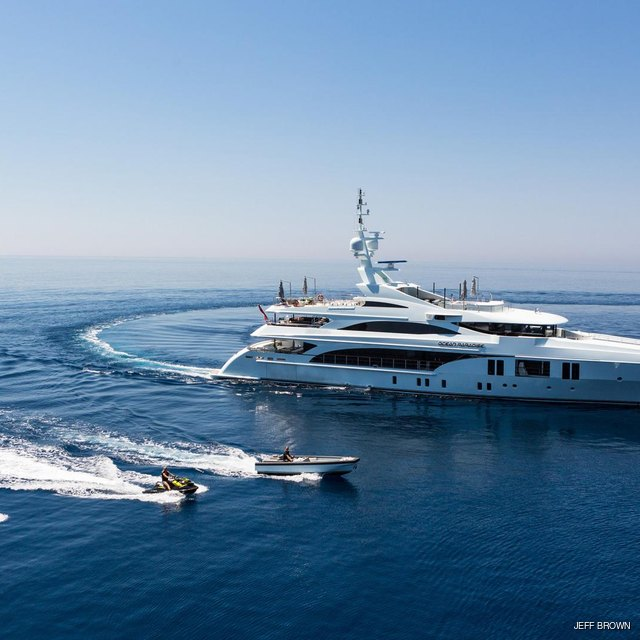 Yacht with tenders
