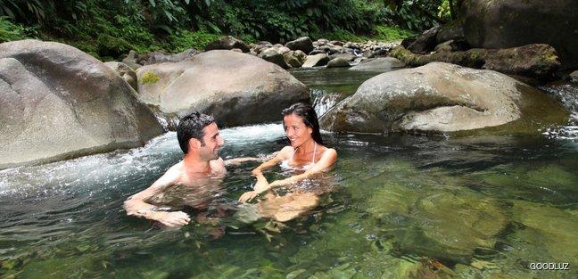 Couple among the nature