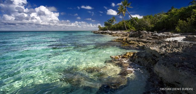 Turquoise water in the Dominican sea