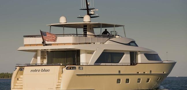 Retro Blue Charter Yacht - 4
