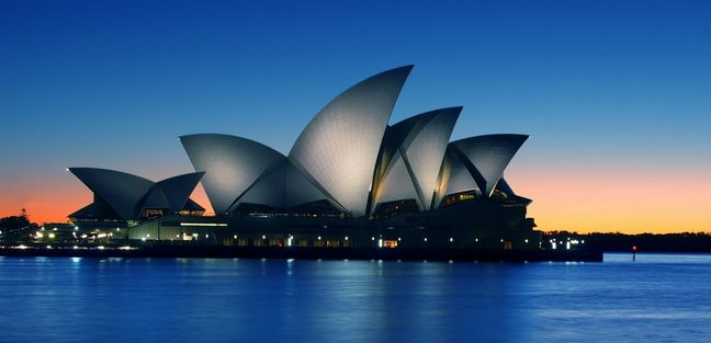 The Sydney Opera House at night