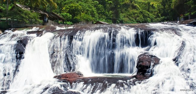Waterfall on the river