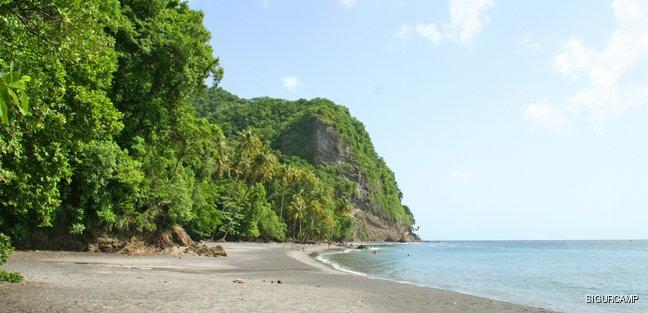 Green and wild coastal hills