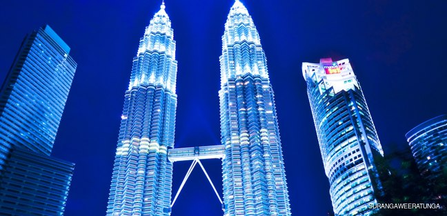 View of The Petronas Twin Towers
