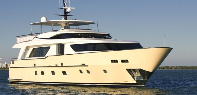Retro Blue Charter Yacht