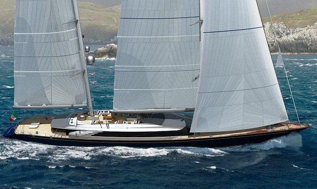 Brand New 70m Perini Navi Sailing Yacht SYBARIS Confirmed