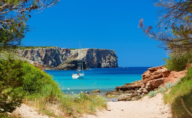 Secluded Beach in the Balearic Islands