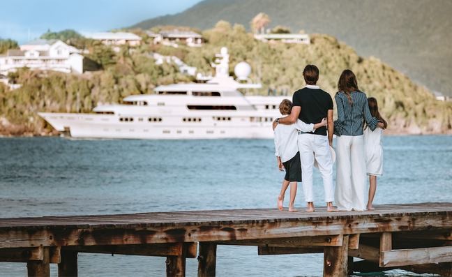 Family on yacht charter
