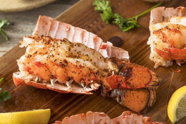 Anegada lobster dish