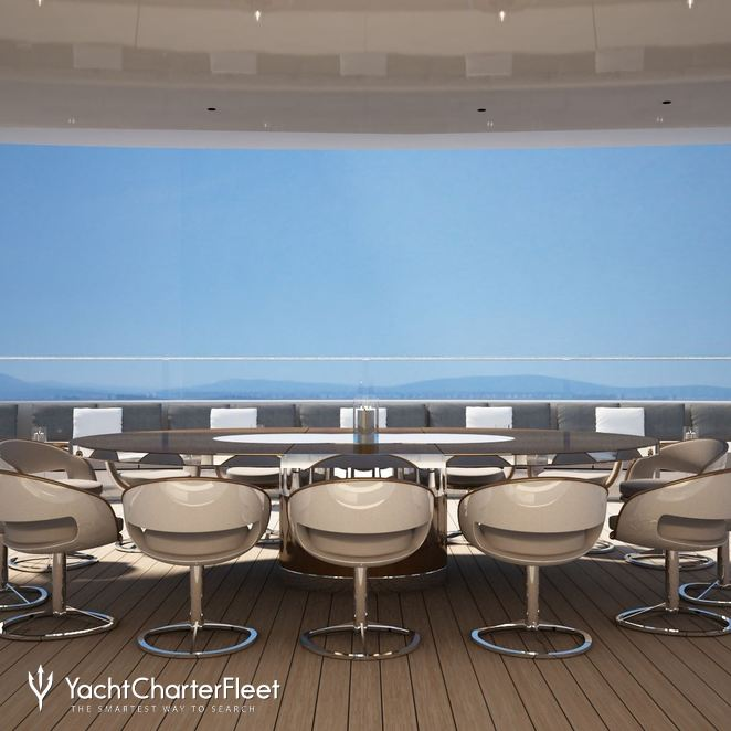 Large Dining Table On The Sundeck