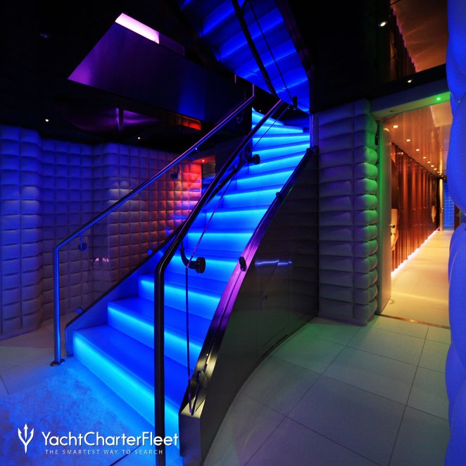 Illuminated Stairs - Waterfall Effect