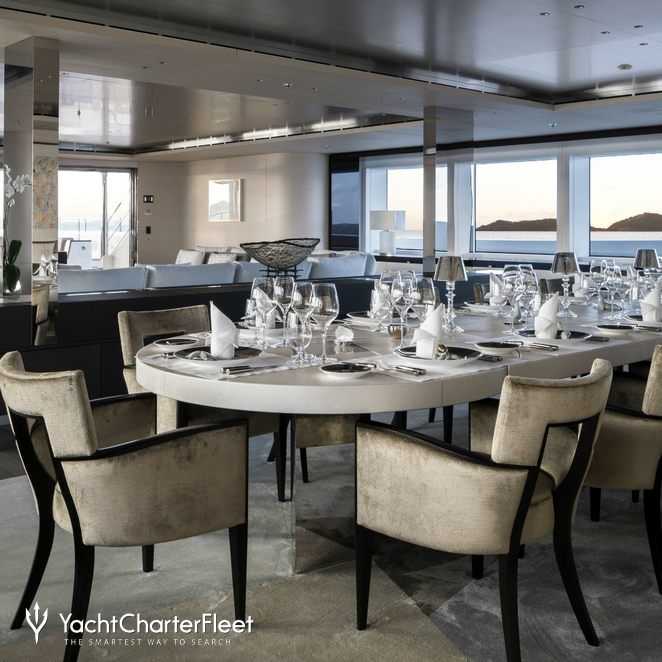 Main Dining Room: NAUTILUS Yacht (ex. Grace E) Photos - Picchiotti