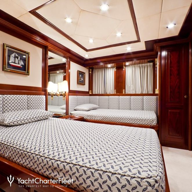Blue Twin Stateroom