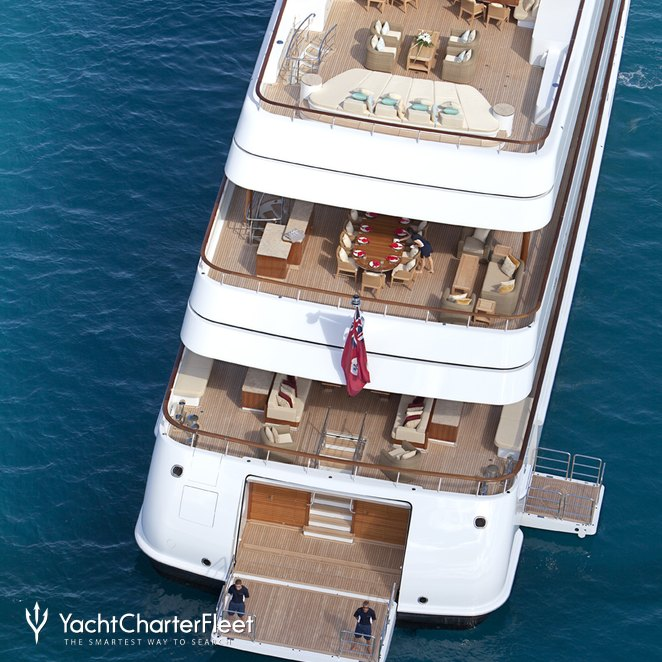 Ariel View Of The Aft Deck