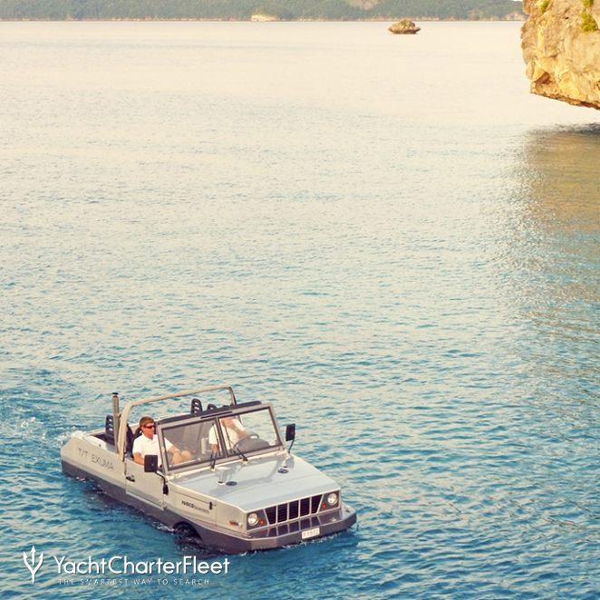 Amphibious Jeep at Sea