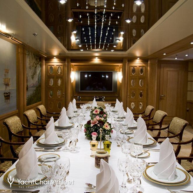 Main Dining Room: MESERRET II Yacht Photos - Cammenga Jachtbouw