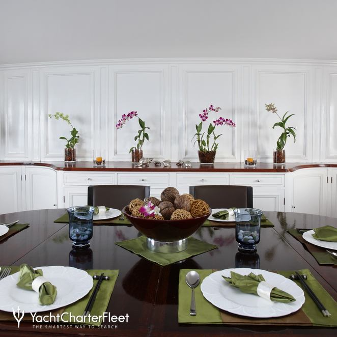 Dining Table on Main Deck