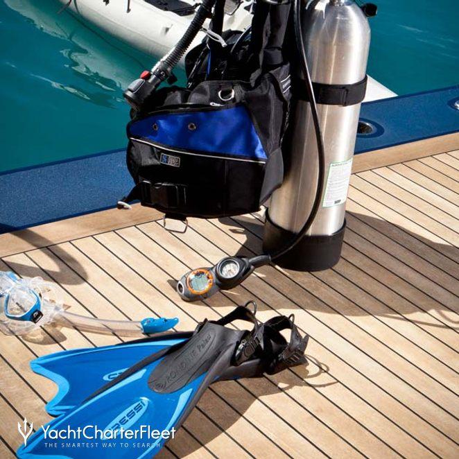 Scuba Diving Equipment on Swim Deck