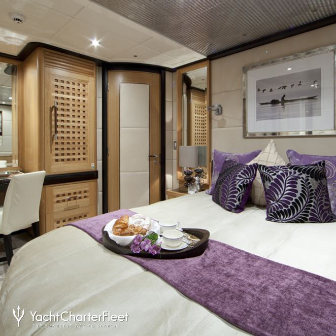 Purple Guest Stateroom - Desk