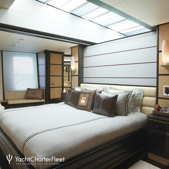 Master Stateroom with Partition Closed