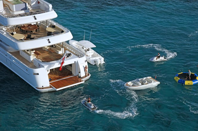 Sovereign Yacht Stern - Watersports