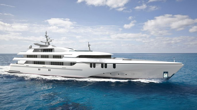 luxury tri-hulled superyacht White Rabbit