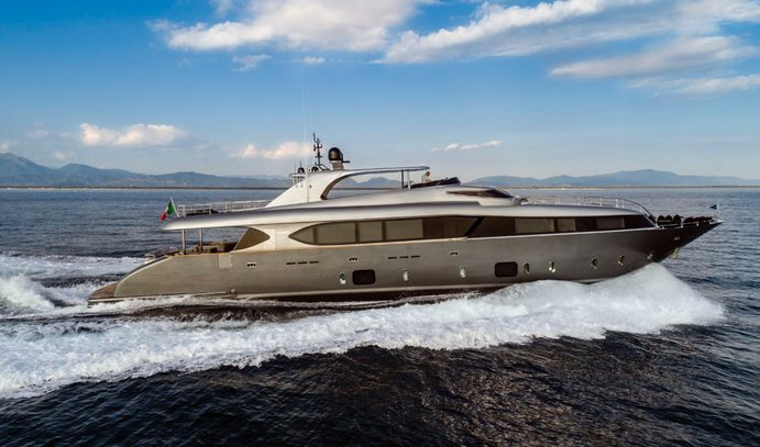 superyacht SANDS cruising on a Mediterranean yacht charter