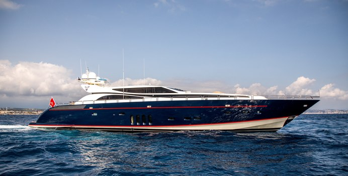 Cheeky Tiger charter yacht exterior designed by Andrea Bacigalupo