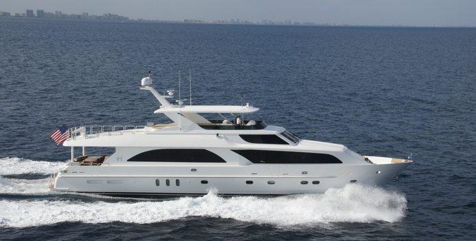 Second Amendment yacht charter Hargrave Motor Yacht