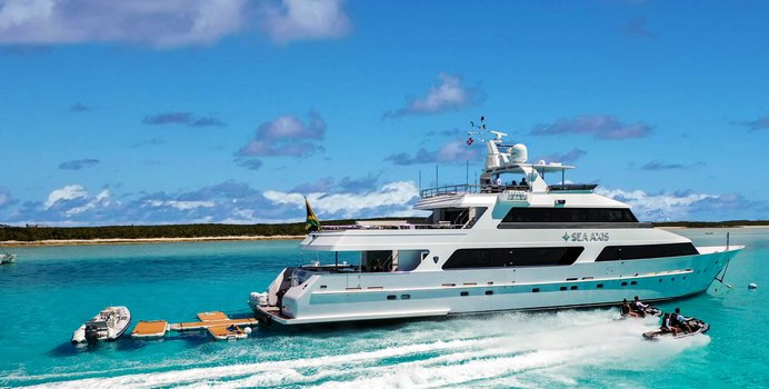 Sea Axis charter yacht exterior designed by Mulder Design