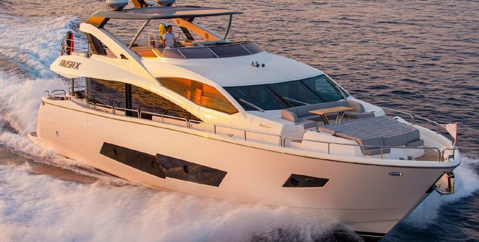 Rush X yacht charter Sunseeker Motor Yacht