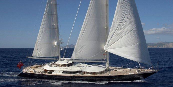 Luna yacht charter Perini Navi Sail Yacht