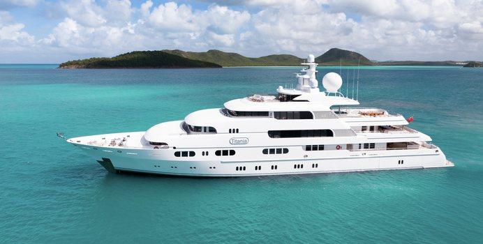 Titania charter yacht exterior designed by Espen Oeino
